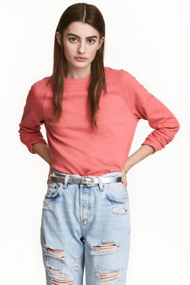 Sweatshirt - Terracotta pink - Ladies | H&M CN 1