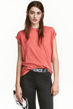 Long T-shirt - Terracotta pink - Ladies | H&M CN 1
