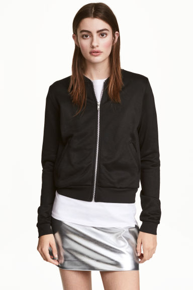 Sweatshirt jacket - Black - Ladies | H&M 1