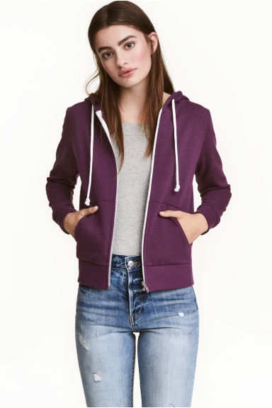 Hooded jacket - Purple - Ladies | H&M CN 1