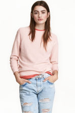 Sweatshirt - Powder pink - Ladies | H&M 1