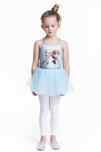 Dance dress with a tulle skirt - Light blue/Frozen - Kids | H&M 1