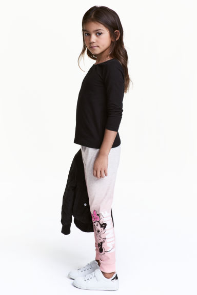 Pantalon jogger - Rose clair/Minnie - ENFANT | H&M FR