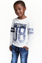 Long-sleeved T-shirt - White - Kids | H&M 1