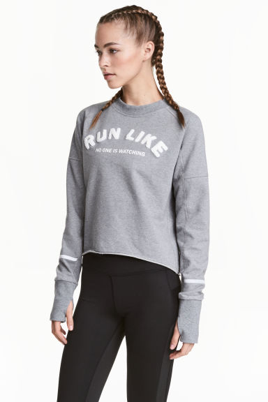 Sweatshirt - Grey marl - Ladies | H&M