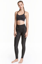 Yoga tights - Dark grey marl - Ladies | H&M CN 1
