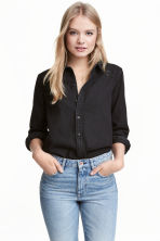 Camicia di jeans - Denim nero - DONNA | H&M IT 1