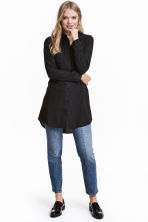 Long shirt - Black - Ladies | H&M 1