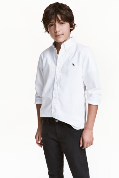 Cotton shirt - White - Kids | H&M CN