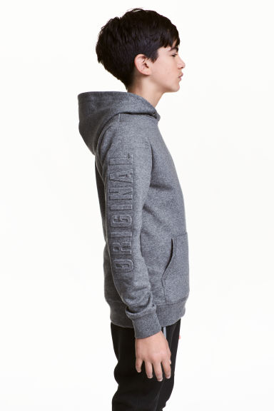 Hooded top - Dark grey marl - Kids | H&M CN 1