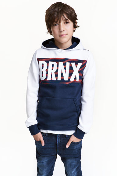 Hooded top - Dark blue - Kids | H&M CN 1