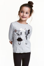 Sequined jumper - Grey/Mice - Kids | H&M 1