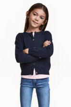 Cotton cardigan - Dark blue -  | H&M 1
