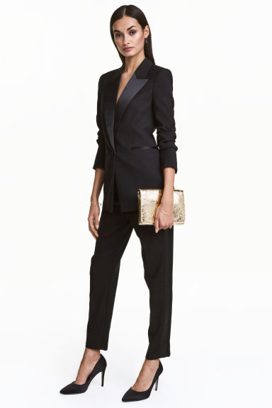 Suit trousers with side stripe - Black - Ladies | H&M 1