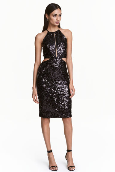 Abito con paillettes - Nero - DONNA | H&M IT 1