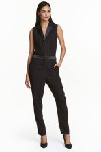 Sleeveless jumpsuit - Black - Ladies | H&M 1