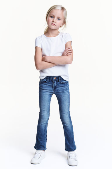 Superstretch Boot cut Jeans - Denim blue - Kids | H&M 1