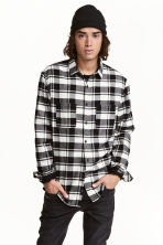 Flannel shirt - Black/White - Men | H&M 2
