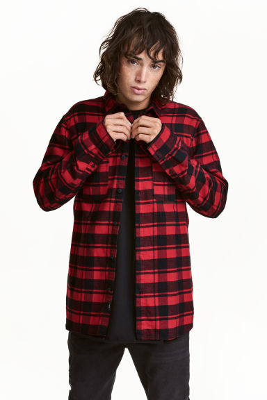 Flannel shirt - Red/Black - Men | H&M 1