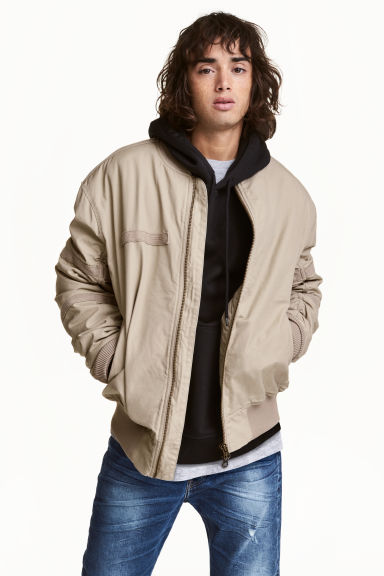 Bomber jacket - Beige - Men | H&M CN 1