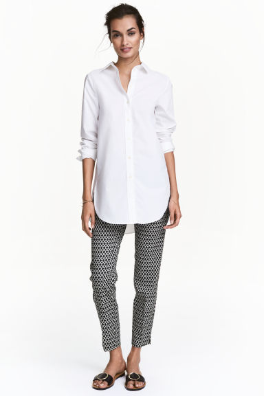 Suit trousers - Black/Patterned - Ladies | H&M CN 1