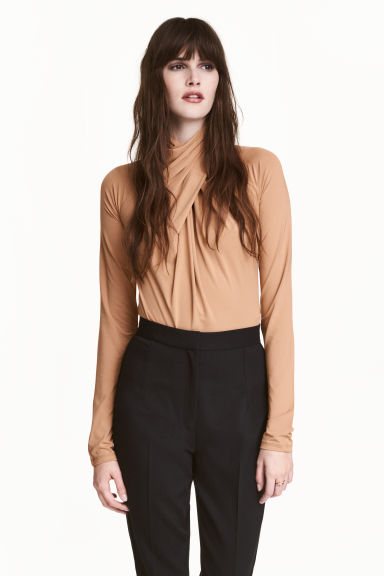 Draped body - Beige - Ladies | H&M CN 1