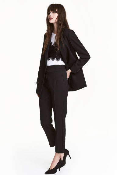 Ankle-length suit trousers - Black -  | H&M 1