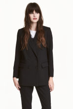 Double-breasted jacket - Black -  | H&M 1