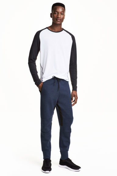 Jersey sports joggers - Dark blue - Men | H&M CA 1