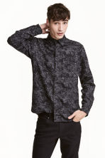 Nepped shirt - Black/Patterned - Men | H&M 1