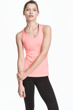 Sports vest top - Coral marl - Ladies | H&M CN 1