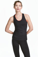 Sports vest top - Black - Ladies | H&M CA 1