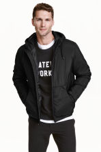 Padded jacket with a hood - Black - Men | H&M CN 1