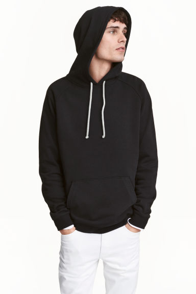 Hooded top - Black - Men | H&M