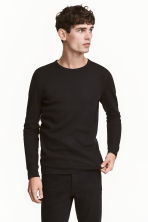 Waffled top - Black - Men | H&M CN 1