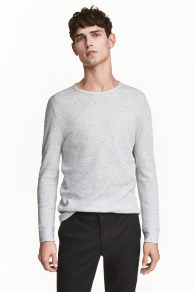 Waffled top - Grey marl - Men | H&M