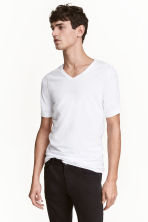 Lot de 2 T-shirts Slim fit - Blanc - HOMME | H&M FR 1