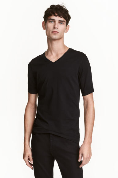 2-pack T-shirts Slim fit - Black - Men | H&M 1