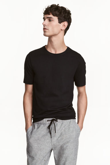 2-pack T-shirts Slim fit - Black - Men | H&M CN 1