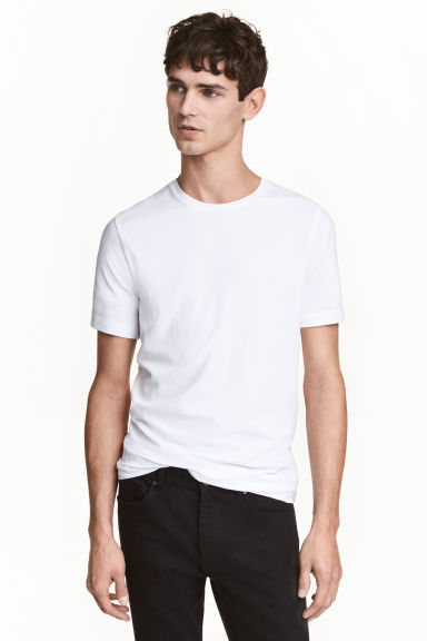 2-pack T-shirts Slim fit - White - Men | H&M 1