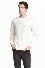 Sweatshirt - White/Text - Men | H&M 1