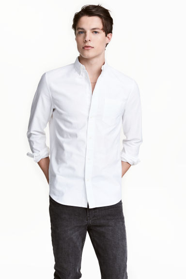 Oxfordskjorta Regular fit - Vit - HERR | H&M FI 1