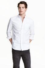 Oxford shirt Regular fit - White - Men | H&M 1