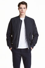Padded bomber jacket - Dark blue - Men | H&M 1