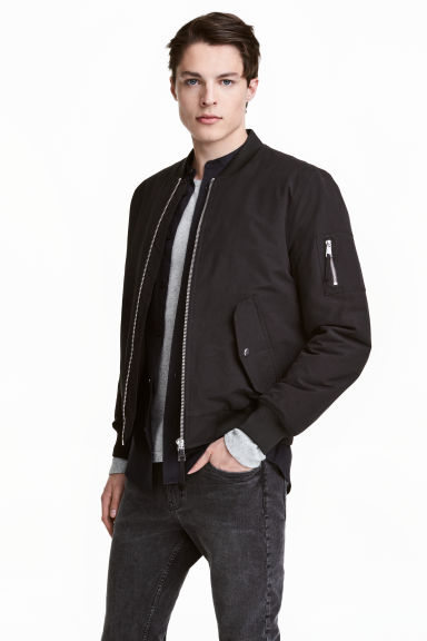 Padded bomber jacket - Black - Men | H&M 1