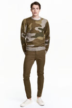 Twill trousers Slim fit - Khaki - Men | H&M CA 1