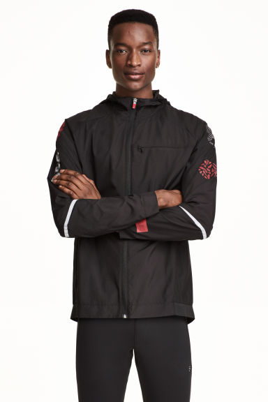 Running jacket - Black/Red - Men | H&M CN 1