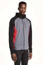 Hooded running jacket - Grey marl/Red - Men | H&M CN 1