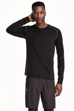 Sports top - Black -  | H&M 2