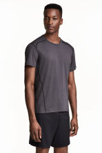 Sports top - Dark grey marl - Men | H&M 1